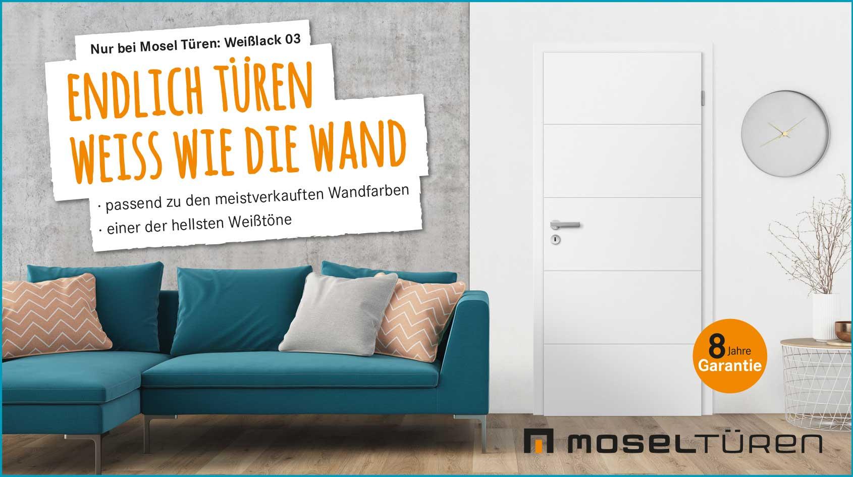 Mosel Türen – Weiss wie die Wand